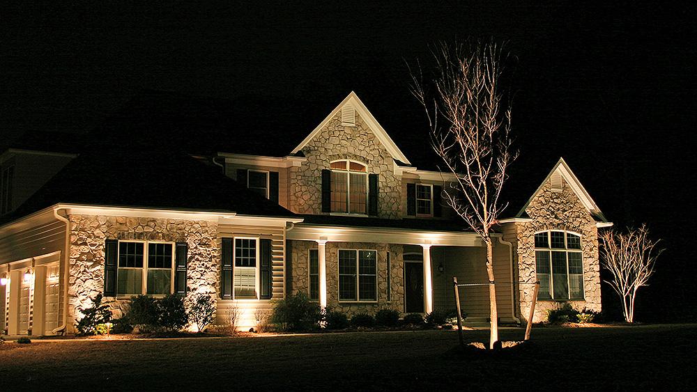 Outdoor Lighting Sample 1 Evergreen Landscape