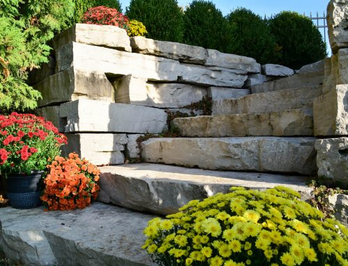 Barrington Backyard with Natural Stone Steps